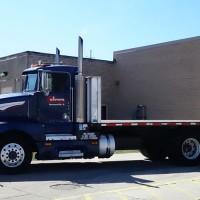 Cabrera Logistics truck outside bay